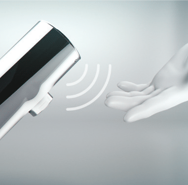 Armatura elektroniczna z automatycznym spłukiwaniem
