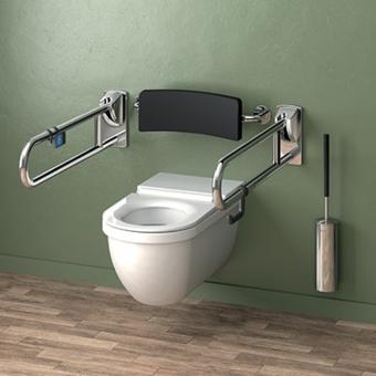 Toalety w restauracji dla osób niepełnosprawnych