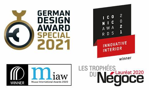Produkt nagrodzony w licznych konkursach design